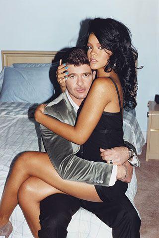 Robin Thicke and Rihanna
