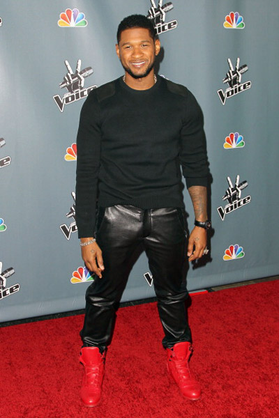 Usher 2013 The Voice Usher Attends NBC's ...