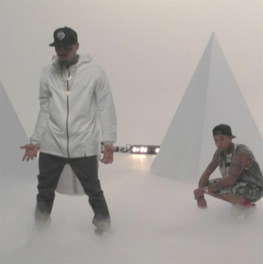 tyga-chris-brown-for-the-road-video-shoot2