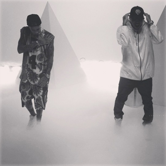 tyga-chris-brown-for-the-road-video-shoot4