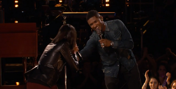 USHER PERFORMS 'ONE' WITH MICHELE CHAMUEL ON THE VOICE