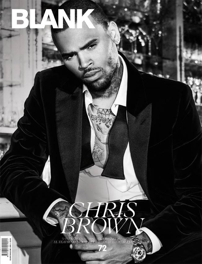 Chris Brown BLANK Magazine Cover