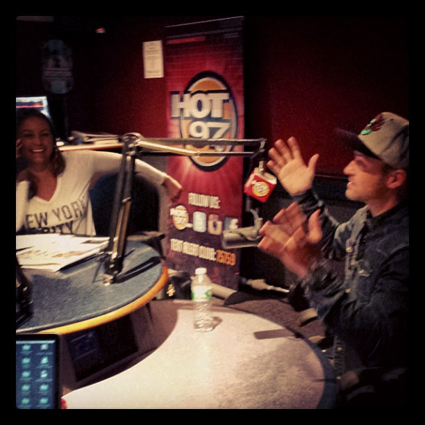 Angie Martinez and Justin Timberlake