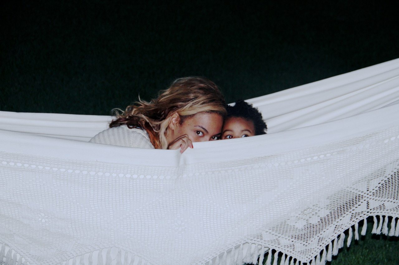 Beyonce and Blue in Hammock