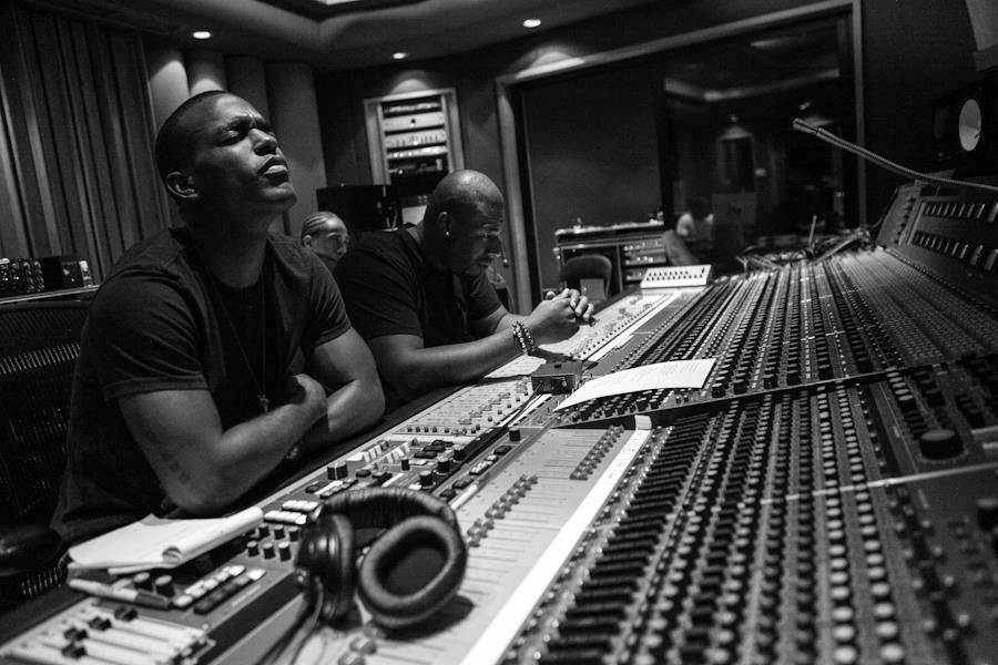 Luke James and Danja studio