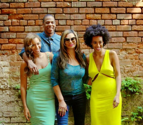 Beyonce, Jay Z, Solange, Tina Knowles New Orleans