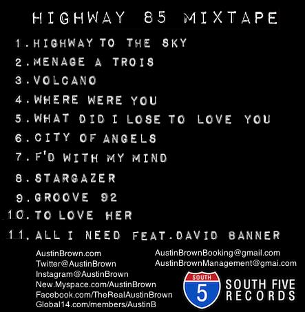 Austin Brown Highway 85 Back Album 1 Cover