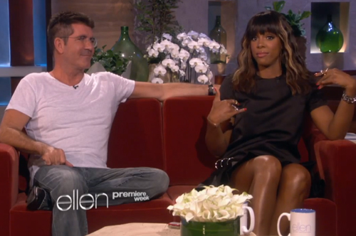 Kelly-Rowland-and-Simon-Cowell-on-Ellen-Show