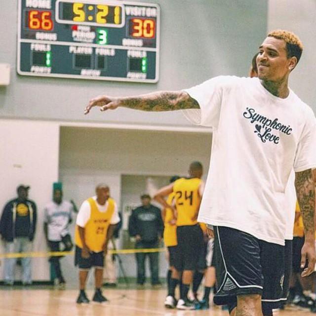 Chris Brown at Dorsey High