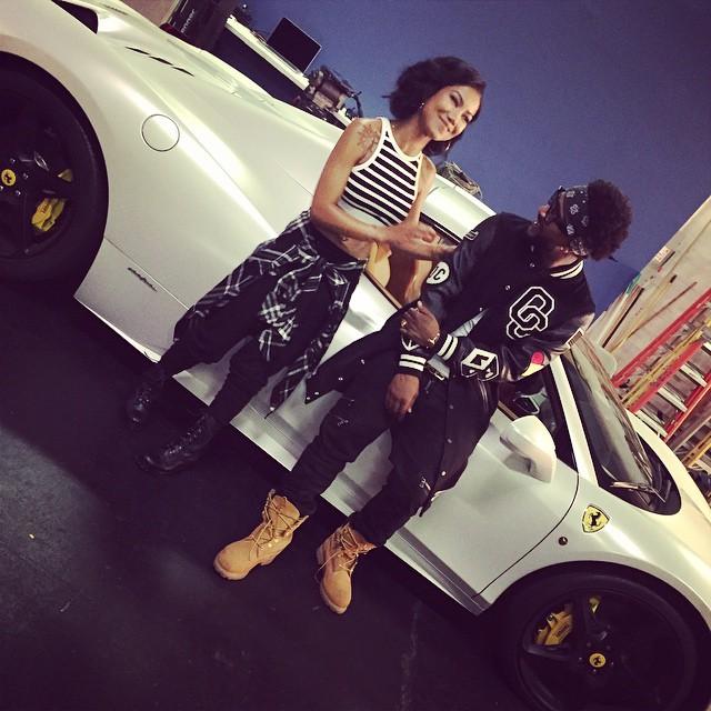 Omarion jhen aiko chris brown shoot post to be music video new r b music for Jhene aiko living room flow lyrics