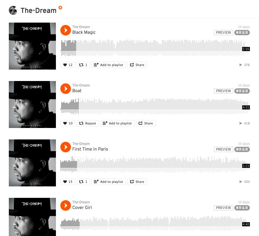 The-Dream Soundcloud