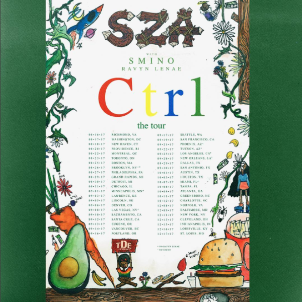 SZA Ctrl Tour Dates