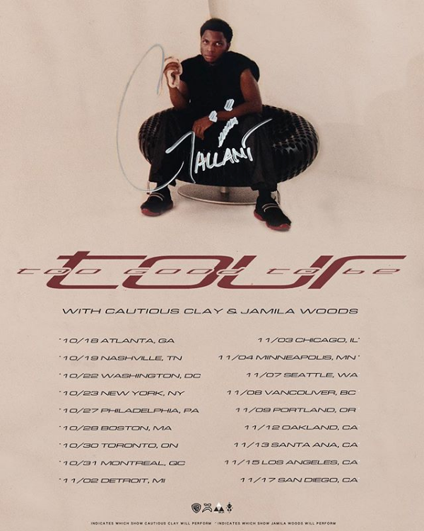 Gallant Too Good To Be Tour